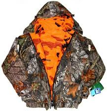 New Bushmaster Reversible Waterproof Hunting Jacket Mossy Oak/ Blaze Size M #A3