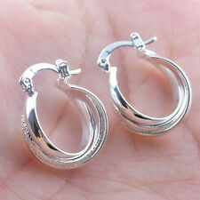 Women Fashion Silver Earstud Hoop Dangle Earring Wedding Engagement Jewelry New