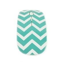 Chevron Series Robin Egg Blue USB Wireless Optical Mouse for All Macbook &Laptop