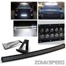 "For 04-14 Ford F150 54"" 312W Black Curved CREE LED Light Bar/Mounting Bracket"