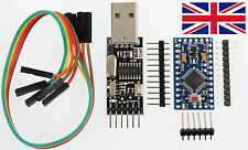 Arduino compatible Mini Pro V3.0 ATmega328 Mini + USB Serial Adapter UK seller.