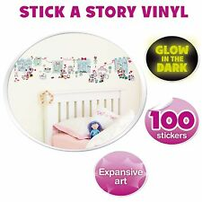 MINNIE MOUSE 'STICK A STORY' 100 WALL STICKERS ROOM DECOR