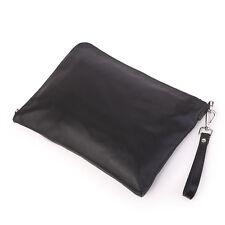 Black J.M.D Men's Cow Leather Small Sling Bag Messenger Shoulder Bag Cluth Purse