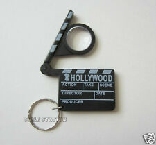 12 Hollywood Clapper Clap Board Magnifying Glass Keychain Party Bag Favor Supply