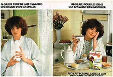 Publicité Advertising 1978 (2 pages) Le lait Regilait écrémé