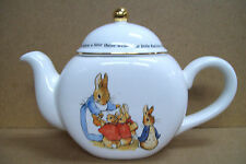 BEATRIX  POTTER PETER RABBIT LIMITED EDITION CERAMIC COLLECTIBLE TEA POT 1997