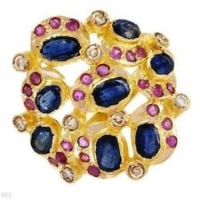 New Ring With 4.00ctw  Diamonds,Rubies,Sapphires 22K YG