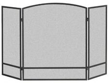 Fireplace Screen , 3-Panel Arch Double Bar Fire Home Decorative Durable NEW