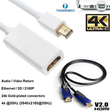 Mini Display Port Thunderbolt DP To HDMI 2.0 Cable 4K@60Hz For Macbook Pro Air