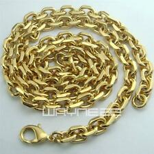 18K 18CT Yellow Gold Filled Men's 6mm width 60cm Length Chain Necklace N248