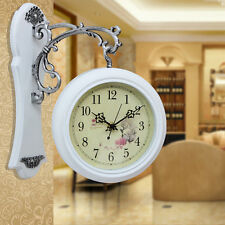 Antique Style Double Sided Interior Wall Clock Double Faced Vintage Home