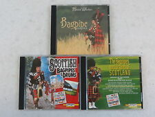 Lot of 3 SCOTTISH BAGPIPE CDS Scottish Bagpipes & Drums Laserlight