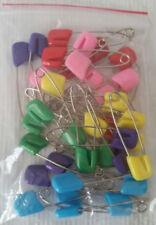 36 Baby Cloth Diaper Pins Plastic Head Assorted