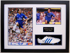 Gianfranco Zola Hand Signed Framed Football Boot Very Rare Chelsea.
