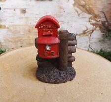 Vivid Arts Miniatura World Fata Foresta Dei Folletti Giardino Tradizionale Rosso