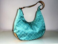 XOXO MONOGRAMMED HANDBAG BAG IN TEAL COLOUR MEDIUM SIZE