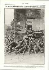 1917 Troops Resting After Offensive In South West Flanders