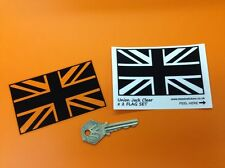Union Jack Bandiera UK Nero & Clear Adesivi JAGUAR BENTLEY