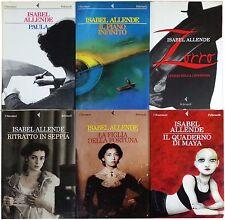 6 LIBRI Allende IL QUADERNO DI MAYA + PAULA + ZORRO + IL PIANO INFINITO + RITRAT