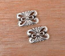20pcs  2 Hole Spacer Beads Charms hollow Pendant Tibet Silver Bead DIY Jewelry