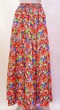 PLUS SIZE HIPPIE GYPSY VINTAGE FLORAL BOHO HIGH WAIST MAXI SKIRT MULTI 20 22 24