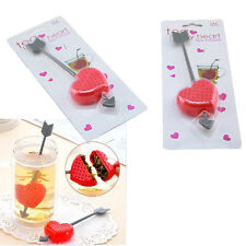 Tea Filter Strainer Cup Glass Teacup Teapot Infuser Cupid Heart Valentine Gift