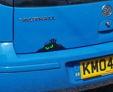 SCARY MONSTER PEEPER Funny Car/Van/Truck/Bumper/Window Sticker - Green Eyes