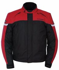 Tourmaster Mens Jett Ser 3 Red Waterproof Textile Armored Motorcycle Jacket NWT