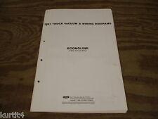 1987 Ford Econoline Van E150 E250 wiring diagram schematic SHEET service manual