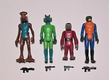 Lot of 4 Vintage Star Wars Cantina Figures w/ Weapons Snaggletooth, Greedo, etc
