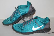 Nike Free Tri Fit Running Shoes, #469767-400, Neo Turq/Grey, Womens US Size 9