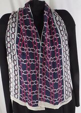 """Caruso Armando Sheer Chain Pattern Classic Oblong Scarf  26"""" x 26""""  Vintage"""