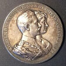 Germany Prussia KAISER WILHELM AUGUSTE VICTORIA Silver Medal