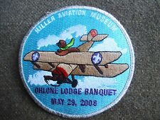 OA  Ohlone 63  2008 LODGE BANQUET   SNOOPY LIKE OTTER FLYING BI PLANE