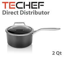TECHEF - Onyx Collection, 2-quart Saucepan with Glass Lid - Teflon Platinum