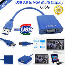 NEW USB 3.0 TO VGA MULTI DISPLAY CABLE ADAPTER CARD VIDEO GRAPHIC FOR WIN 7/8/10