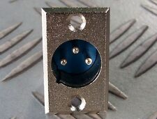 XLR CHASSIS PLUG 3 PIN AUDIO or POWER CHROME FINISH SOLDER CONNECTIONS