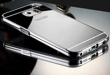 Aluminum Metal Mirror Case + PC Back Cover For Samsung Galaxy S4 S5 S6 S7 Note