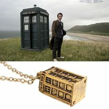 RF BRONZE Dr. Who Police Box Chain Pendant Unisex Necklace