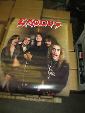 EXODUS  POSTER  1988 24 x 36 original funky poster Co. Bonded by Blood Thrash