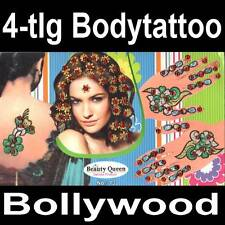 4in1 Bollywood Body Sticker Henna Tattoo Hand Schmuck Haarschmuck Bindis Tikka