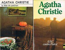 AGATHA CHRISTIE La fête du potiron + A.B.C. contre Poirot + PARIS POSTER GUIDE