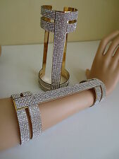 AN IMPORTANT MASSIVE PAIR OF 80s UGO CORREANI FOR VERSACE RUNWAY CUFF BRACELETS