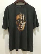 Travis Scott rodeo tour merch vintage washed black t - shirt US sz. SMALL