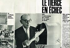 Coupure de Presse Clipping 1962 (4 pages) M Carrus inventeur du Tiercé PMU