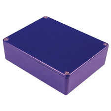 Aluminium Stomp Box Enclosure 145x121x39 Blue Effects Guitar Foot Pedal Project
