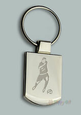 Engraved FOOTBALL Design BOXED Personalised Free - Metal Key ring