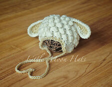 Newborn/Baby Crochet Little Lamb Hat Photography Prop
