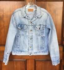 Vtg 70s Levis Faded Distressed Destroyed Grunge Jean Trucker Jacket Men's Sz M