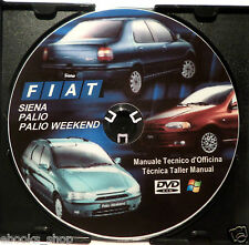 DVD MANUALE TECNICO D'OFFICINA FIAT SIENA PALIO WEEKEND 1.4-1.6 8V-1.6 16V 1.7TD